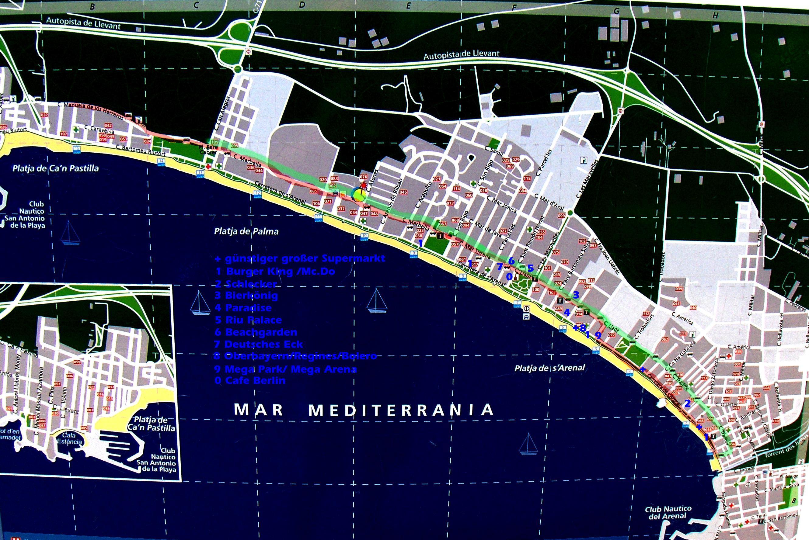 Hotels Playa De Palma Lageplan